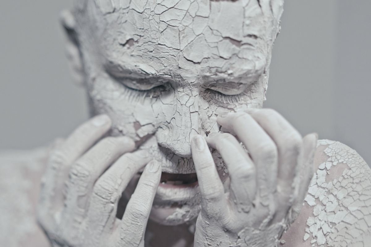 Paint Flakes and Peels Off Vocalist Catrin Vincent in Another Sky Video