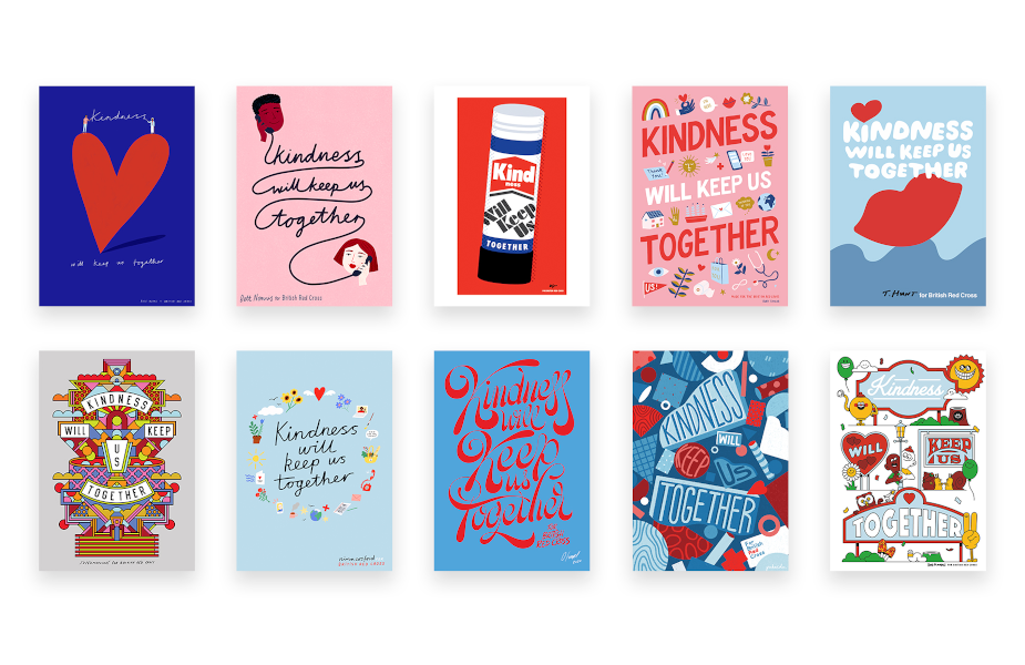 UK-Based Artists Beautifully Illustrate 'Kindness Will Keep us Together' Campaign