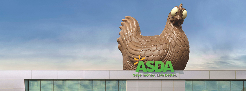 A Giant Chocolate Hen is the Star of VCCP's New Asda Campaign