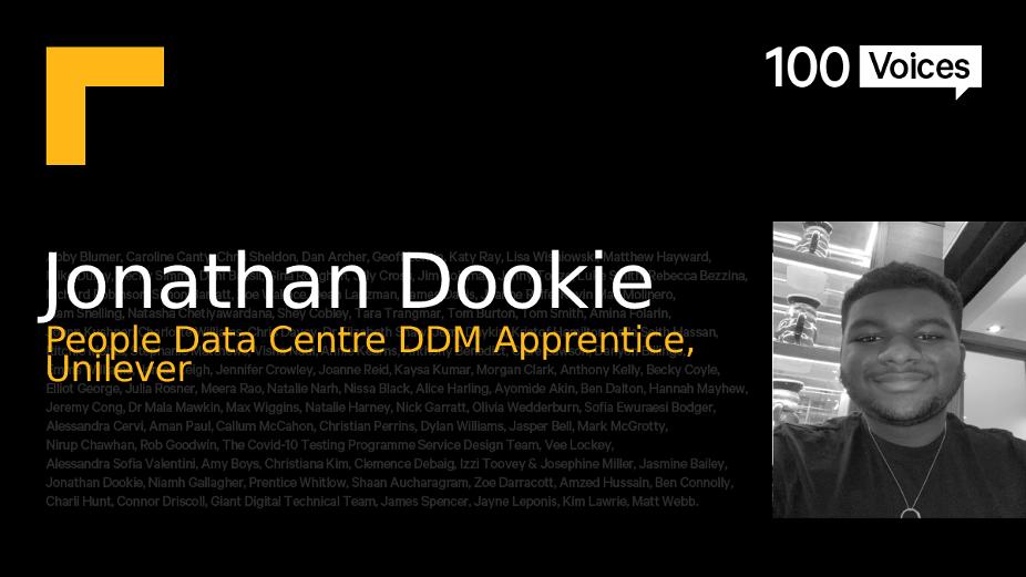 BIMA100 Voices: Jonathan Dookie
