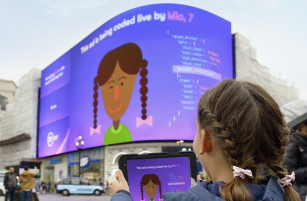 BT Teaches Kids to Code - and Lets Them Loose on Piccadilly Circus