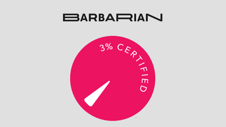 Barbarian Receives 3% Certification from Gender Equality Organisation The 3% Movement