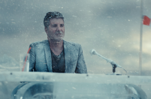 Simon Cowell Imagines Antarctic Talent Show to Illustrate Barclaycard's 'Bad Business'
