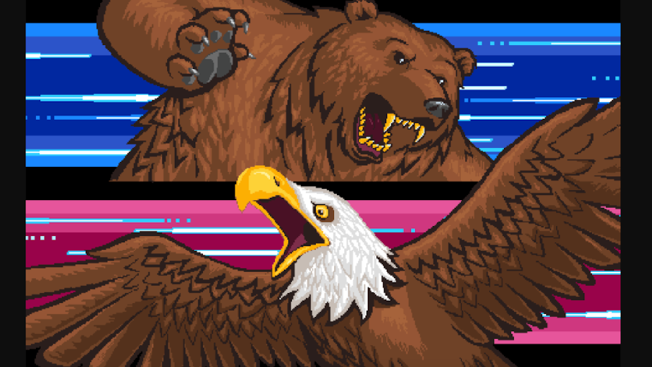 Bear Meets Eagle on Fire Throws it Back for Retro Arcade 'Fists of Beastness' Game