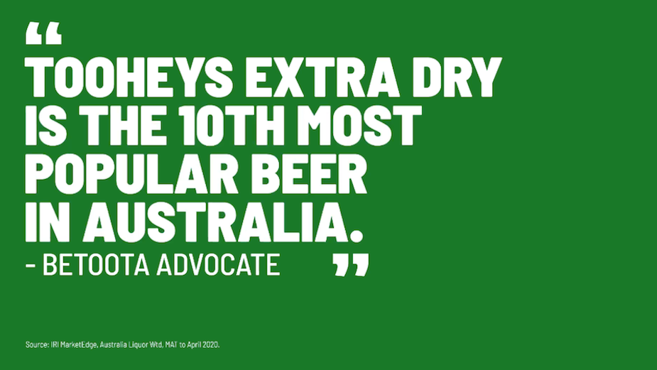 Tooheys Extra Dry Continues to be 'Proudly Ordinary' in Campaign's Second Phase