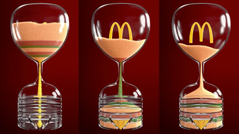 McDonald's 12 Hour Sand Clock Counts Down to Ramadan Iftar Meal