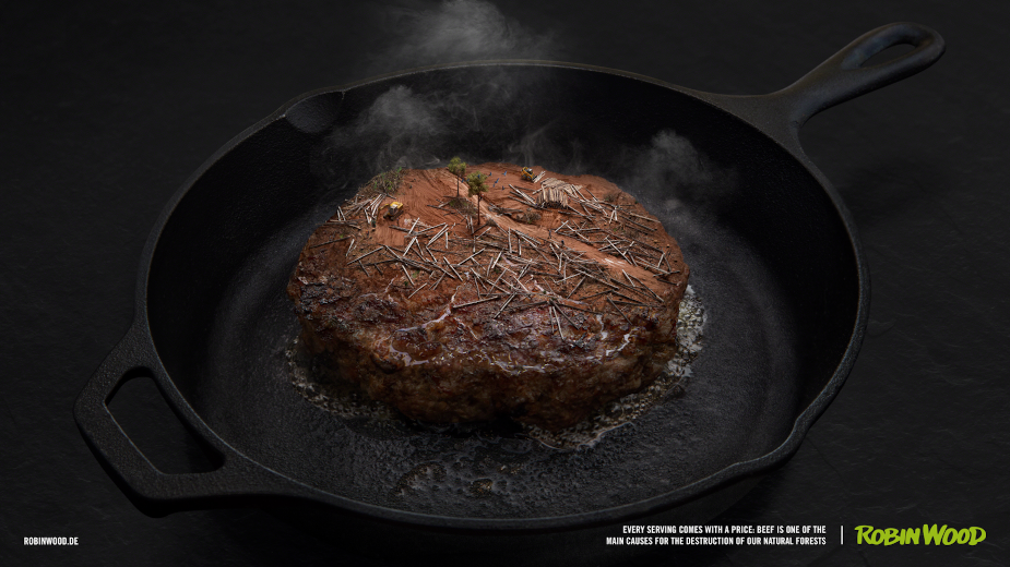 Robin Wood Makes a Meal Out of Forests for Deforestation Awareness