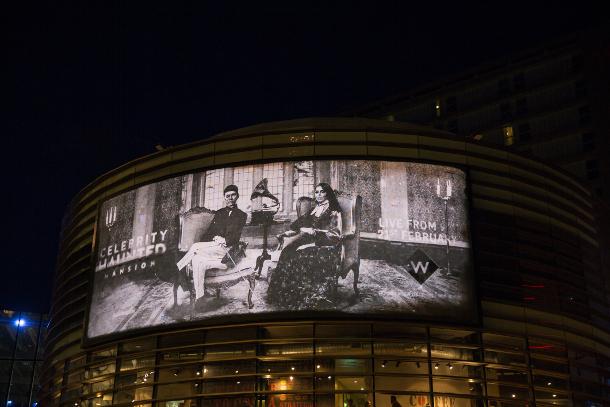 UKTV's 'After-Dark' Billboard Haunts the Public Ahead of 'Celebrity Haunted Mansion'