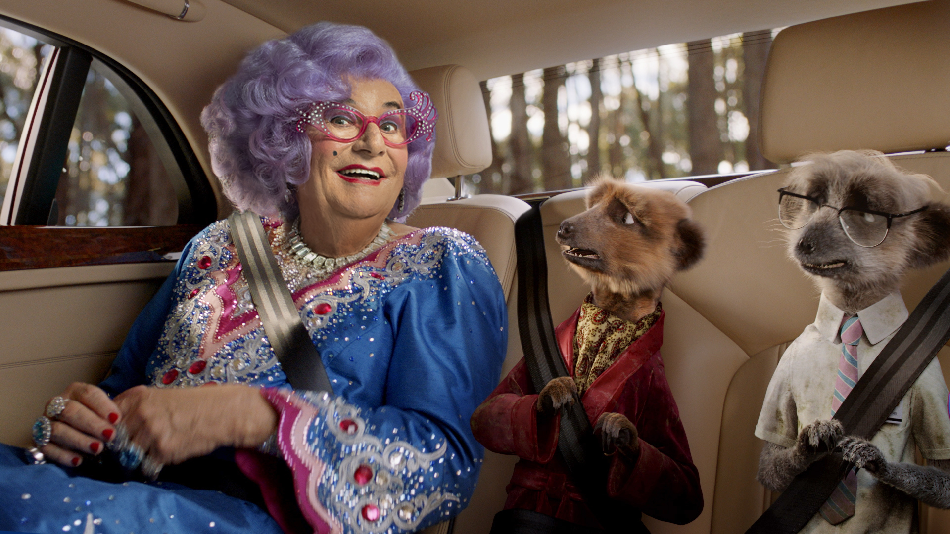 Hello Possums! Dame Edna Rescues Meerkats in Classic Case of Mistaken Identity