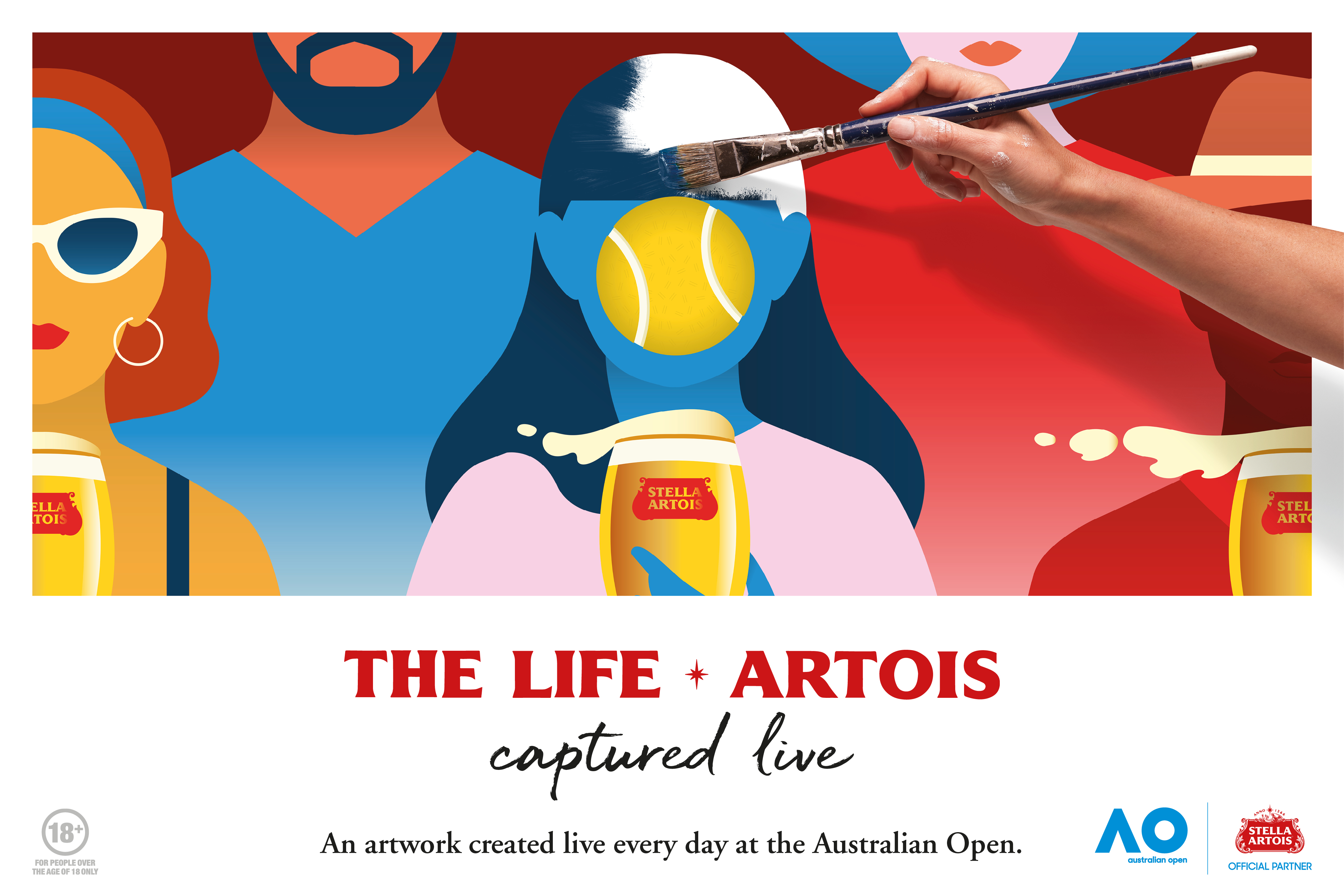 Artists Capture 'The Life Artois' Live at 2020 Australian Open for Stella Artois