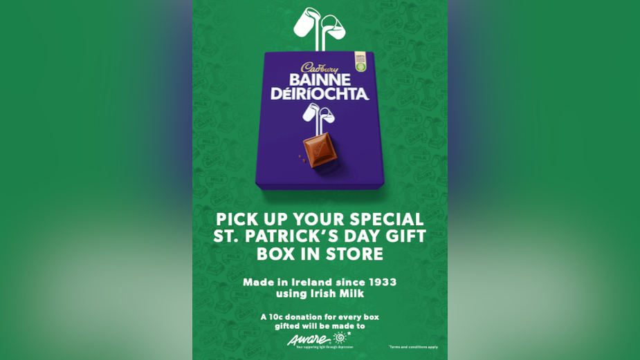 Cadbury Shares a Splash of Purple for St Patrick's Day Gift Box Offering