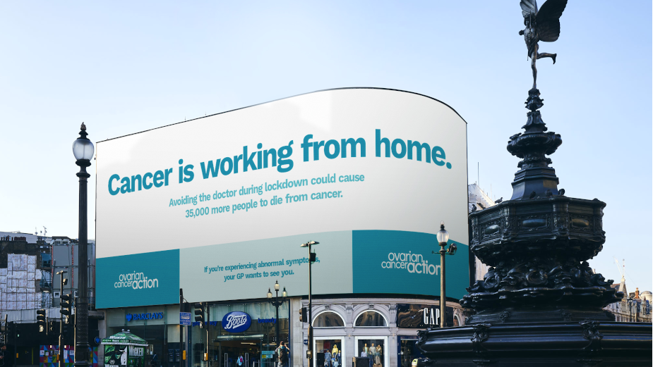Piccadilly Lights Spreads the Message to Remind Us That 'Cancer Is Working From Home'