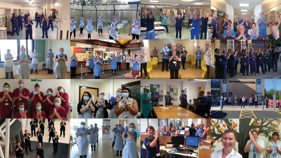 NHS Heroes Clap Back Thanks to the Nation for Staying Home