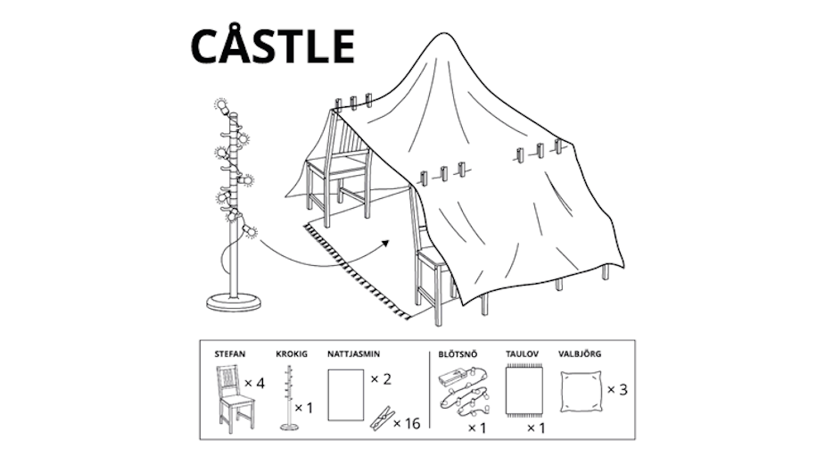 IKEA Encourages Russians to Find the Fun in Lockdown with Self-Assembly Pillow Fort Instructions