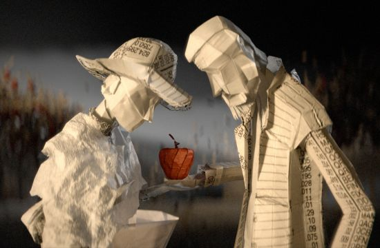 Animated Origami Bring Finance to Life