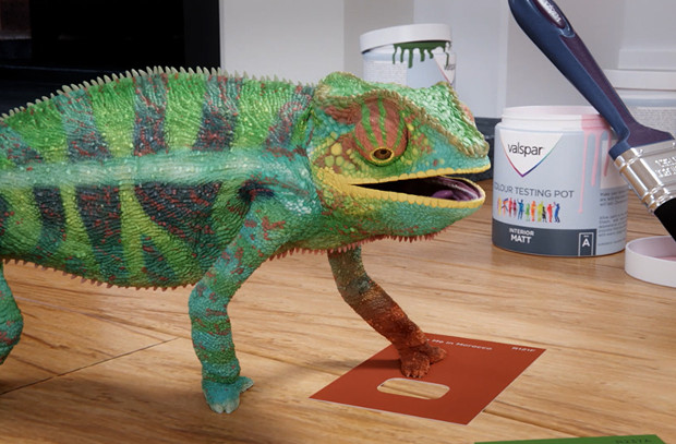 Lovable Chameleons Consider Colours in Animated Paint Ad