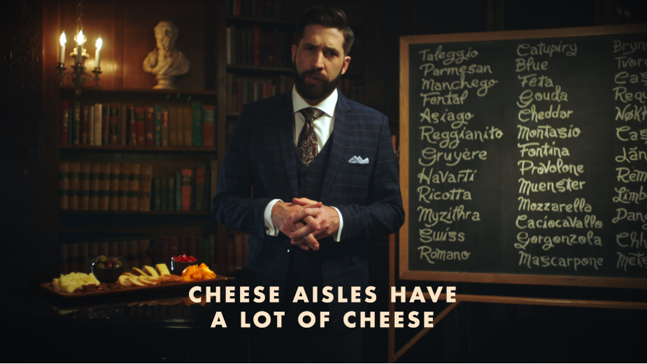 Cello Cuts through Cheese Aisle Intimidation with 'Cheese Confidently'