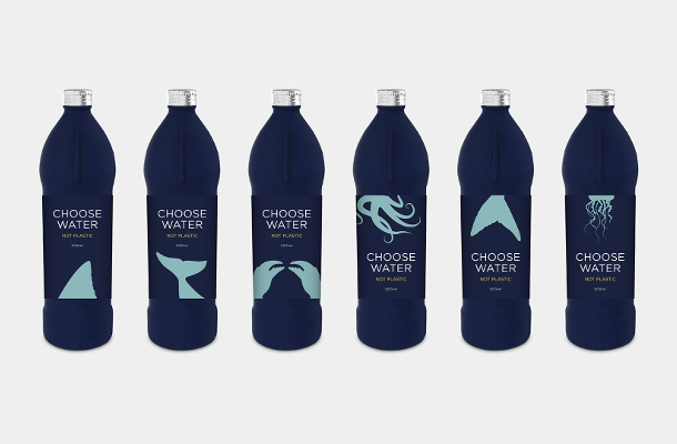 venturethree and Choose Water Unveil Branding for Plastic-Free Water Bottle