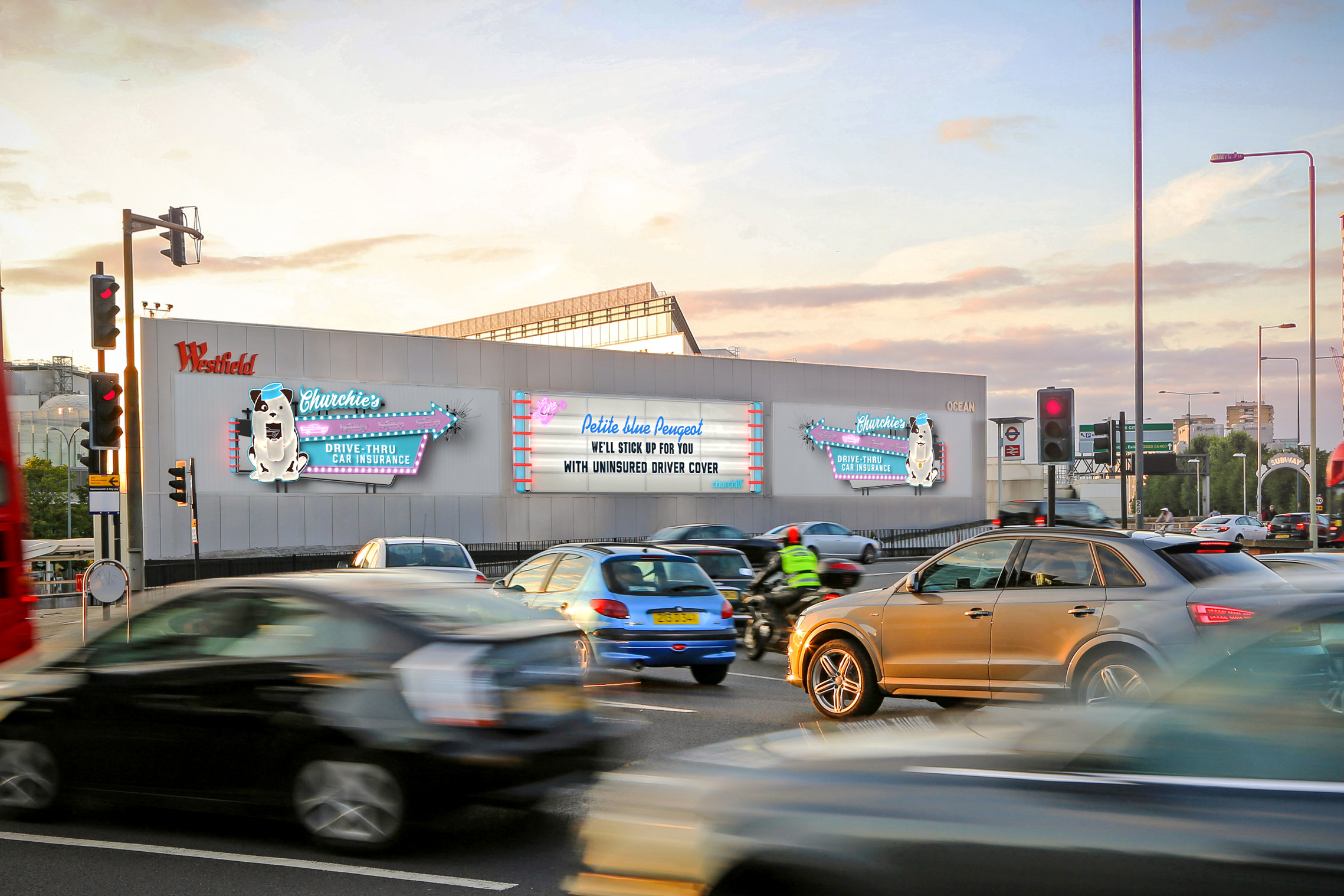 Oh Yes! WCRS Has it Covered in Live Churchill Insurance DOOH Campaign