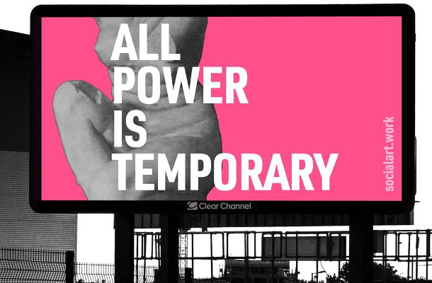Martin Firrell Art Exploring Power and Gender to be Displayed on Clear Channel Screens