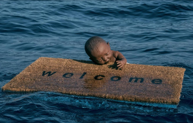 Federico Clapis's Haunting Migrant Tragedy Art for Mediterranean–Saving Humans