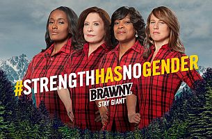 Brawny Shows that Strength Has No Gender on International Women's Day