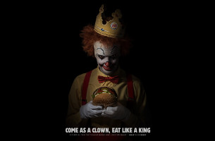 Burger King Invites an Army of Clowns to Celebrate Halloween