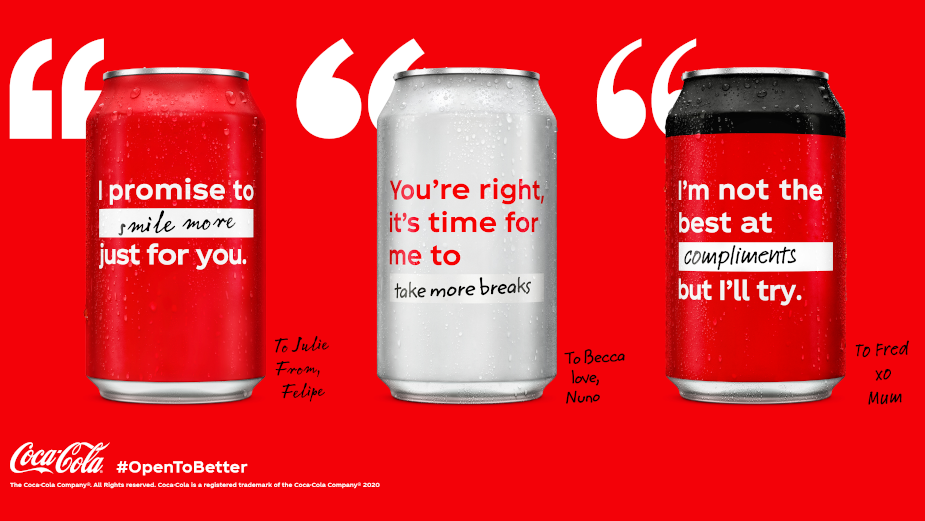 Coca-Cola Replaces Iconic Logo with Inspiring Resolutions of Hope and Optimism