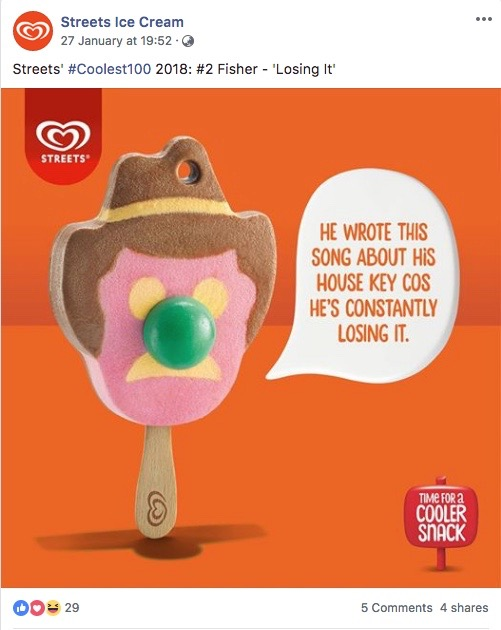 Streets Ice Cream Offers Pun-tastic Commentary of Triple J's Hottest 100 in New Campaign