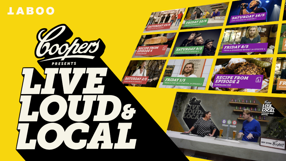 Coopers Brings Epic Aussie Talent Live to Your Living Room in New Campaign