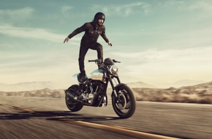Keanu Reeves Surfs a Motorcycle in Squarespace Super Bowl Spot