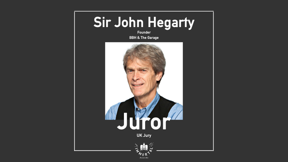 Sir John Hegarty Joins The Immortal Awards Jury