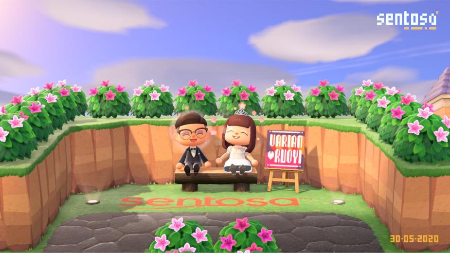 Sentosa Makes Wedding Dreams Come True via Animal Crossing