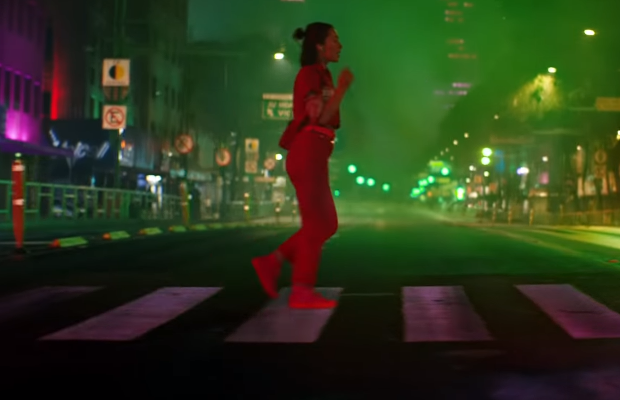 Kim Gehrig Snaps Out Background Noise in Apple's Fluorescent World