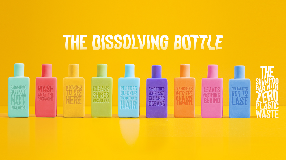 BBDO Guerrero Goes All Shampoo, Zero Plastic with 'The Dissolving Bottle'