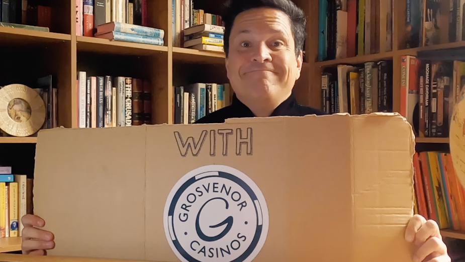 Dom Joly Deals Out No-Nonsense Advice During Lockdown for GrosvenorCasinos.com