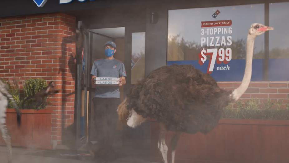 Domino's Rolls Out Carside Delivery Two-Minute Guarantee Across America
