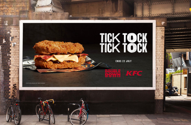 KFC 'Bun-Less Burger of Dreams' Double Down Available for 21 Days