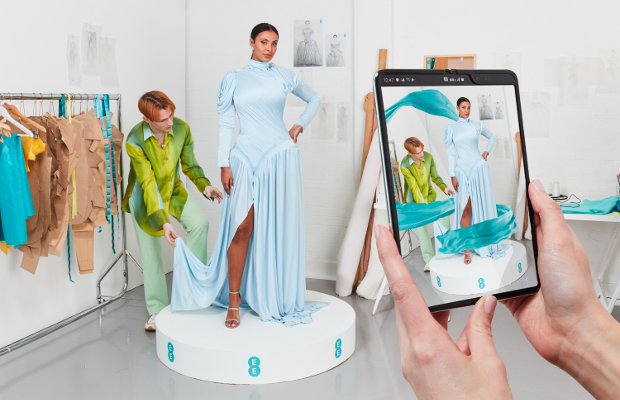 EE Debut World's First 5G Powered AR Dress on BAFTA Awards Red Carpet