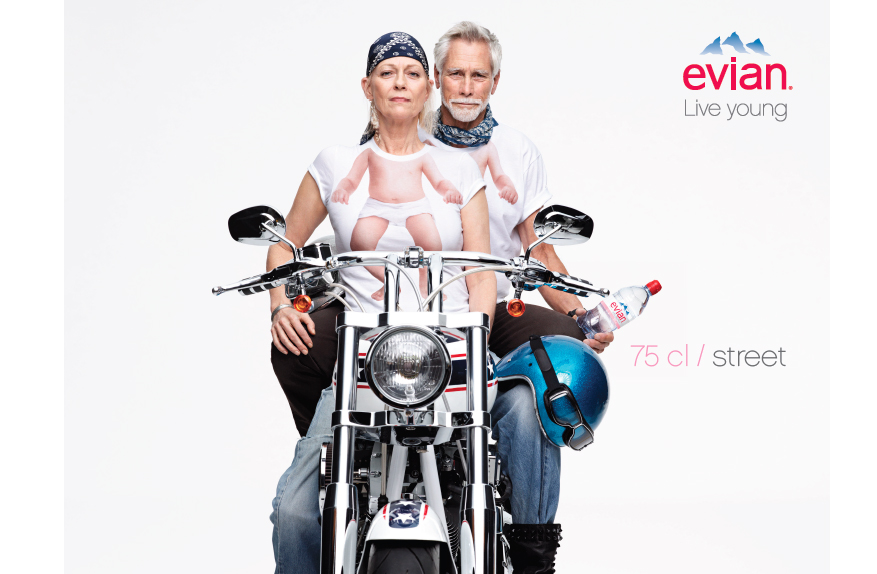 New Print Campaign For evian By BETC