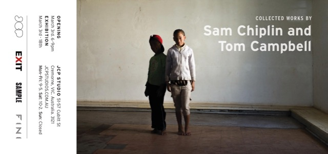 Exit's Tom Campbell and Sam Chiplin hold joint exhibition, JPC Studios, Melbourne, 3-18 Mar