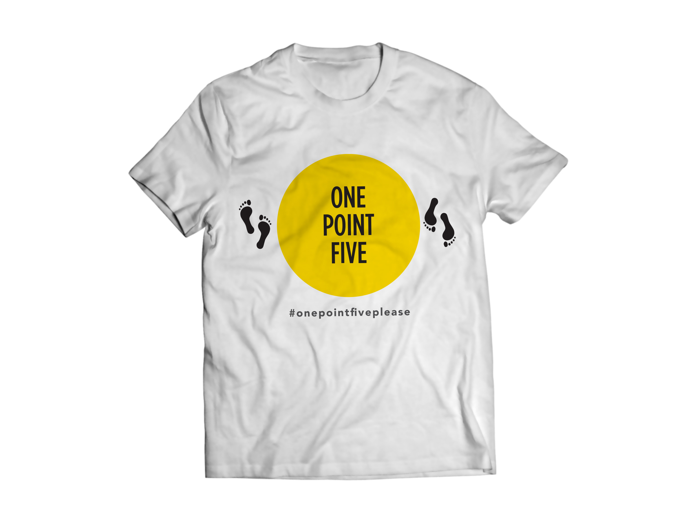 #onepointfiveplease T-Shirt Launches Universal Symbol for Social Distancing