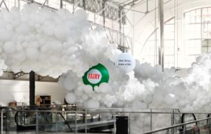 Fairy's New Digital Balloon Installation Epicly Showcases The Power Of A Single Drop