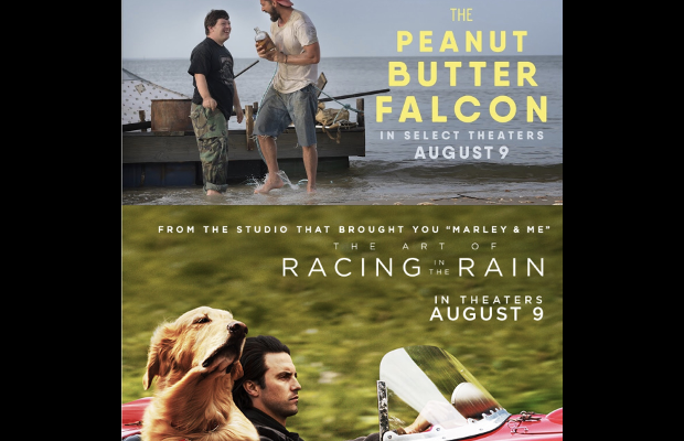 The Peanut Butter Falcon and The Art of Racing in the Rain in Theatres Now