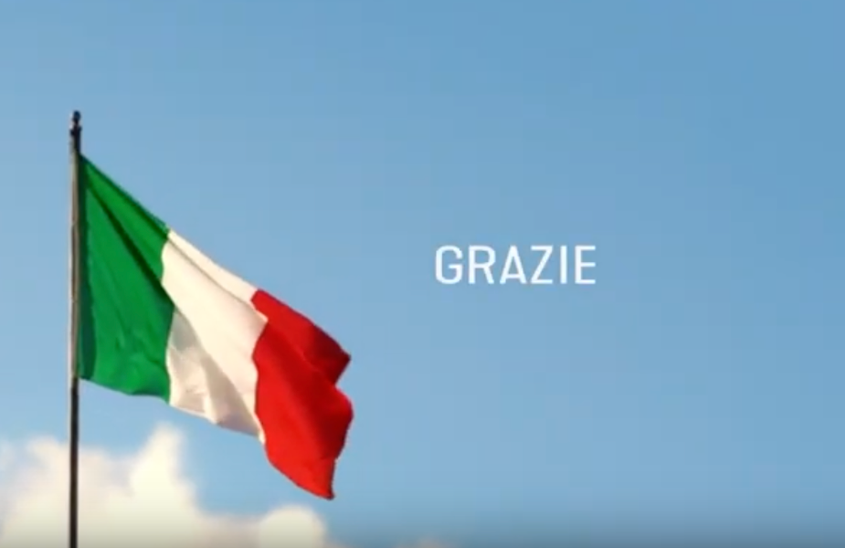 Barilla Bids Heartfelt Thank You to a United Italy