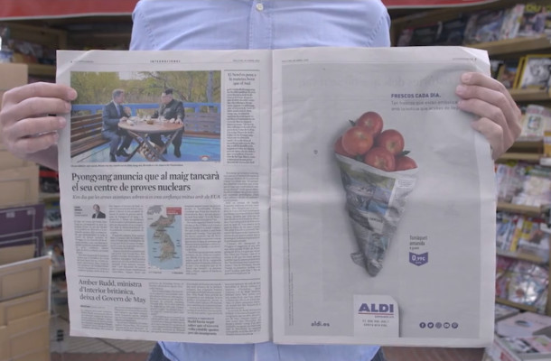 How Aldi's Freshest Print Campaign Delivered in Cannes