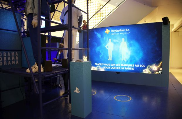 PlayStation and Biborg Create Fun Zone in the Heart of Paris' Galeries Lafayette