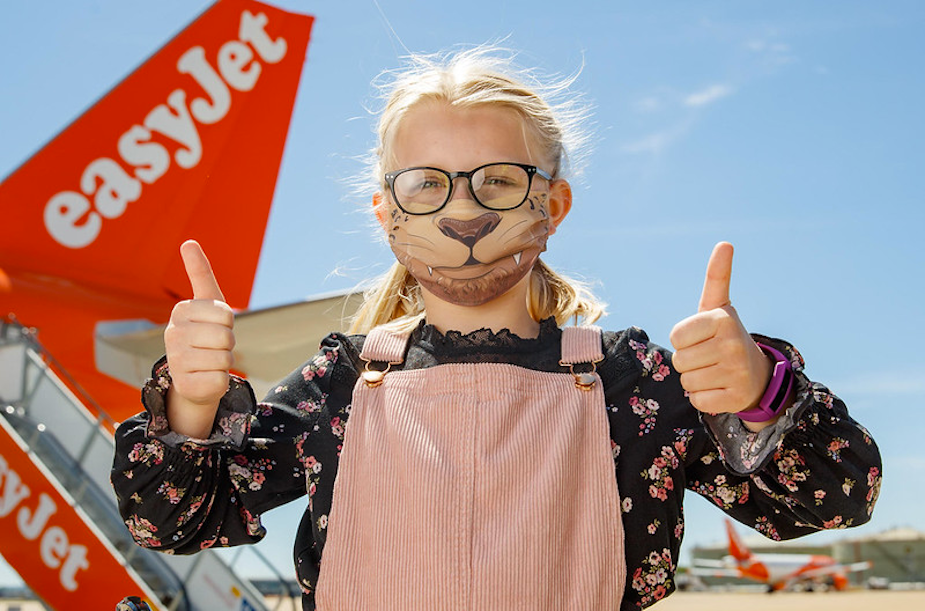 easyJet's Comic Book Face Masks Ease Children's Anxiety About Flying