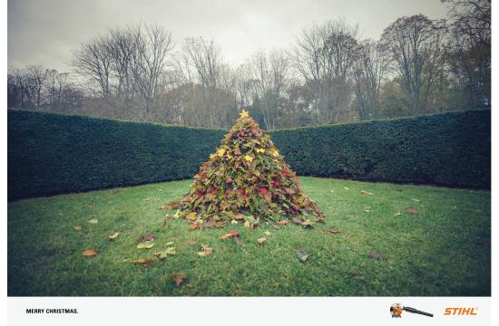 Leafy Christmas Card from Stihl