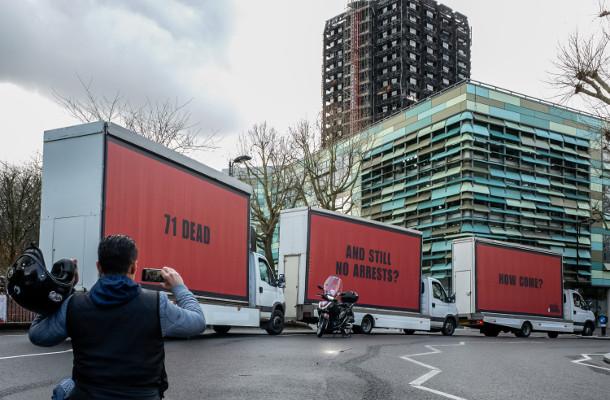 Three Billboards Outside Grenfell Tower, London